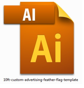 10ft-custom-advertising-feather-flag-template
