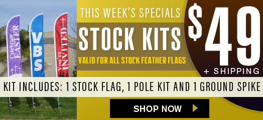 This weeks stock feather banner flag special