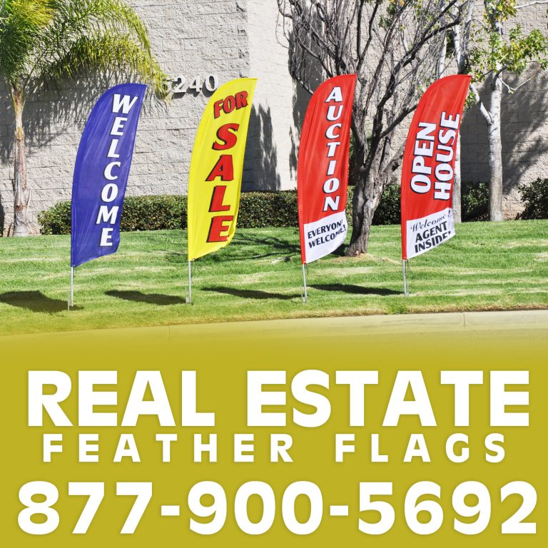 Real Estate Feather Flag and Swooper Flag For Sale
