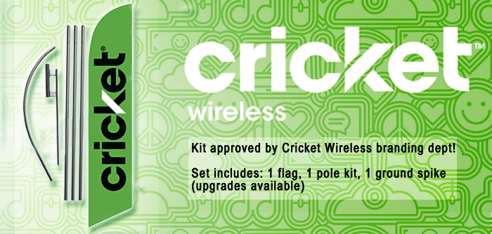 Approved Cricket Wireless Banner Flag Kit