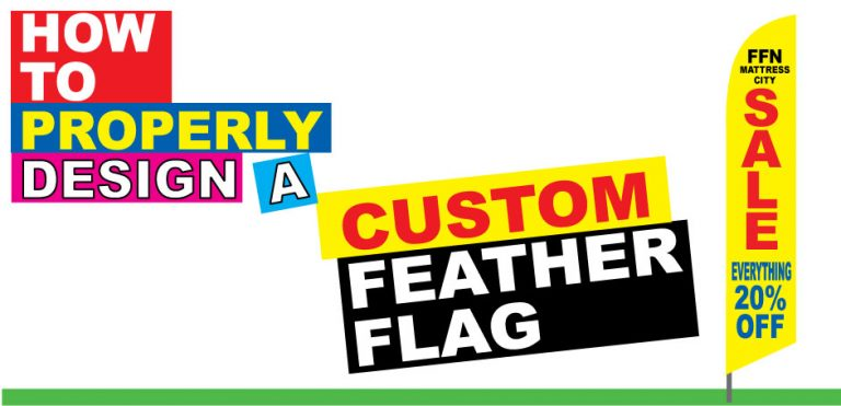 How to Properly Design Custom Single-sided Reverse-back Feather Flags or Banner Flags