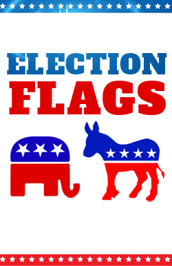 election-advertising-flag-feather flag-hilary-trump-2016-republican-democrat