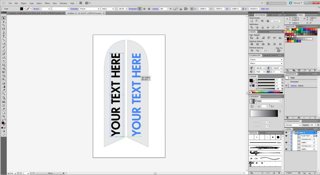 How to design a feather flag or Swooper Banner Flag - Learn Here!