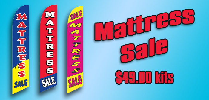Mattress Sale Advertising Flag