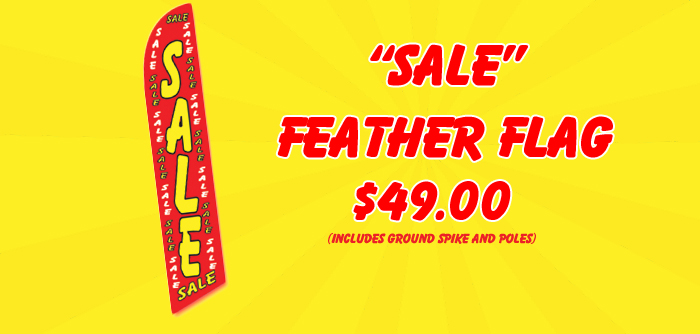Feather flag advertising Sale