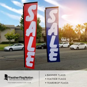 sale rectangle flags