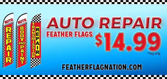 Auto Repair Feather Flags For Sale at Low Price!