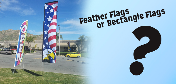 Feather Flags Vs Rectangle Flags