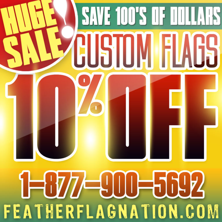 Custom Advertising Feather Flags! Huge Sale!