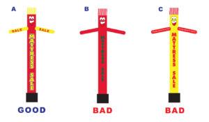 How to properly design a custom air dancer