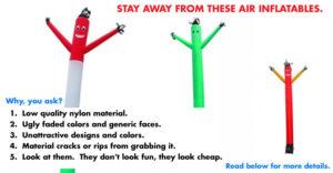 Air Dancers to AVOID