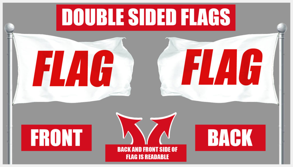 cheap double-sided custom flags - high quality polyester flags made in the USA