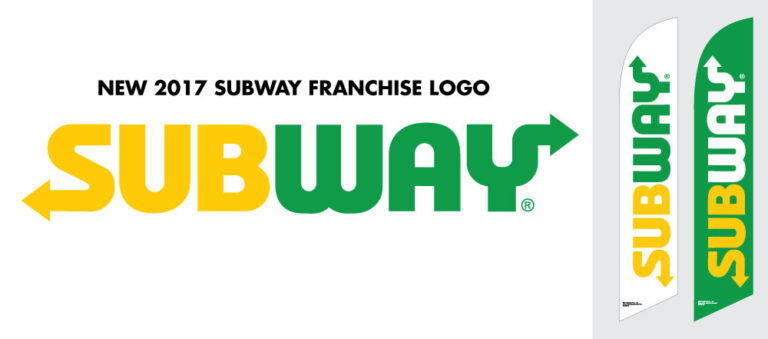 2017 New Subway Logo Feather Flags are in stock and ready to ship