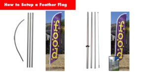 How to setup a feather flag - 2 pole kit options.