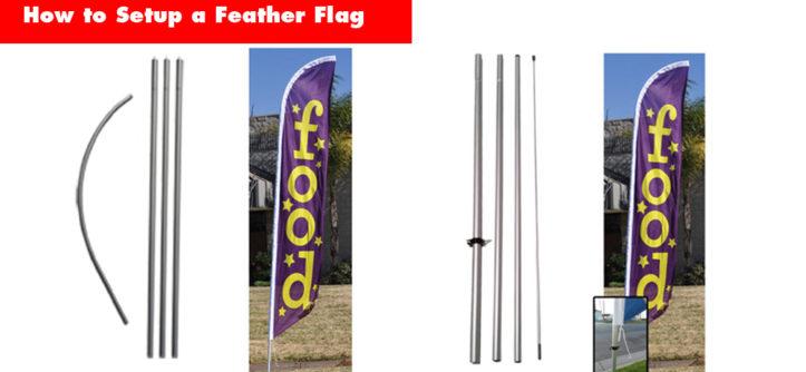 How to setup a feather flag - 2 pole kit options.