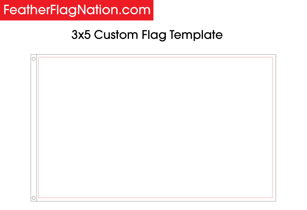 Design a 3x5 custom flag with your logo - 3x5 Custom Flag Template -