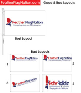 Putting your logo on a 3x5 custom flag