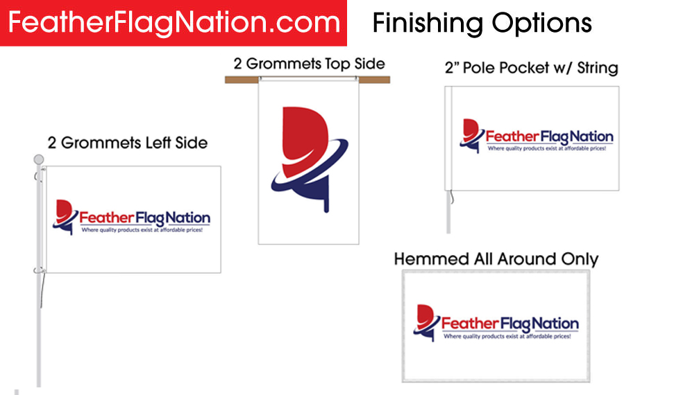 3x5 Custom Flag Finishing Options