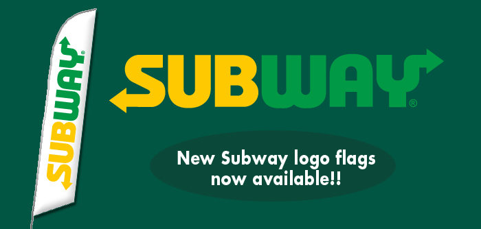 New Subway Logo Feather Flags Advertising For Subway