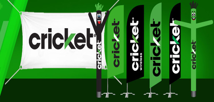 Feather Flags & Air Powered Dancer Guys for Cricket Wireless