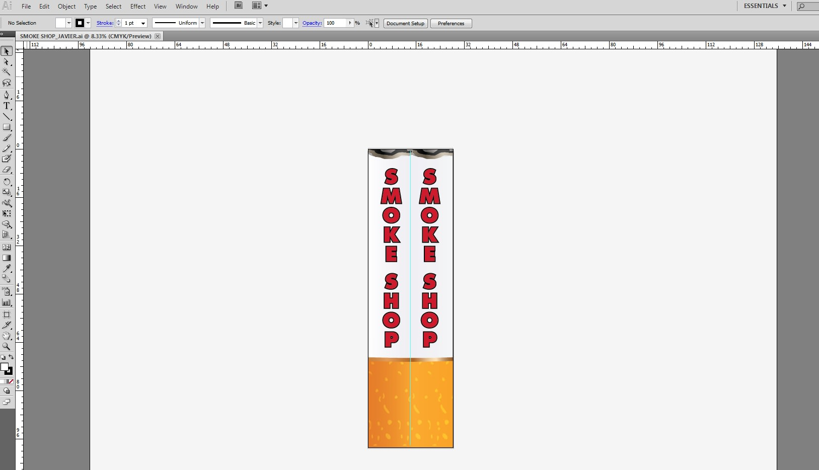 Cigarette 3D Inflatable Air Dancers final design layout