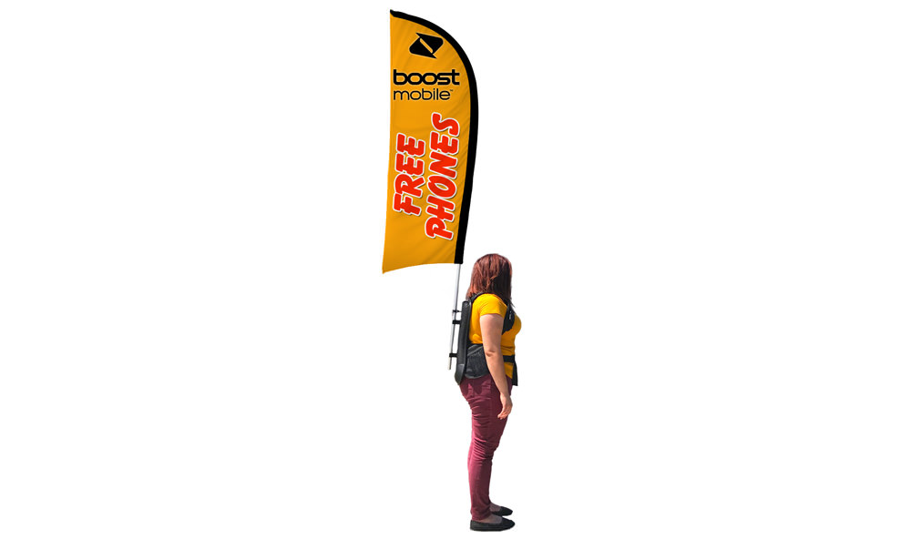 Backpack Flags - Feather Flag Shape Banner