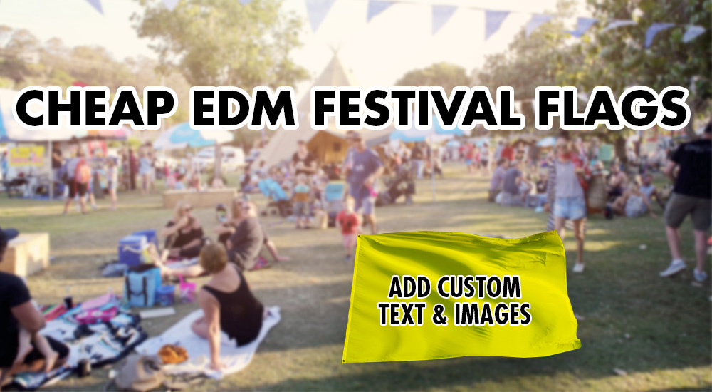 cheap edm festival flags