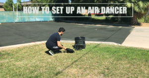how to setup an air dancer