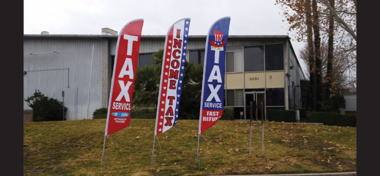 Advertising Feather Flags for Tax Services