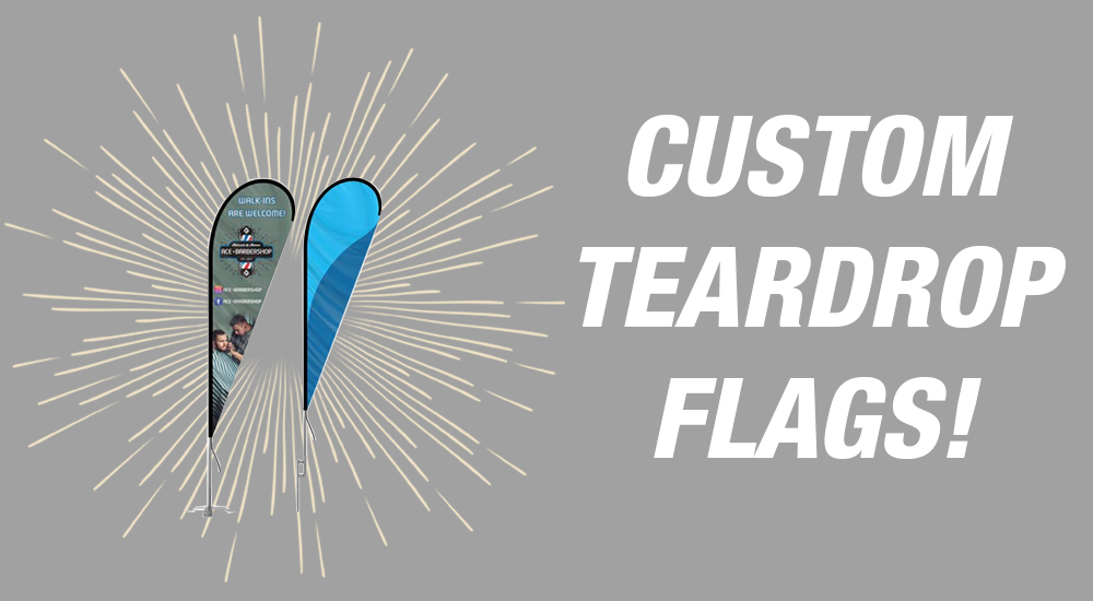 custom teardrop flags