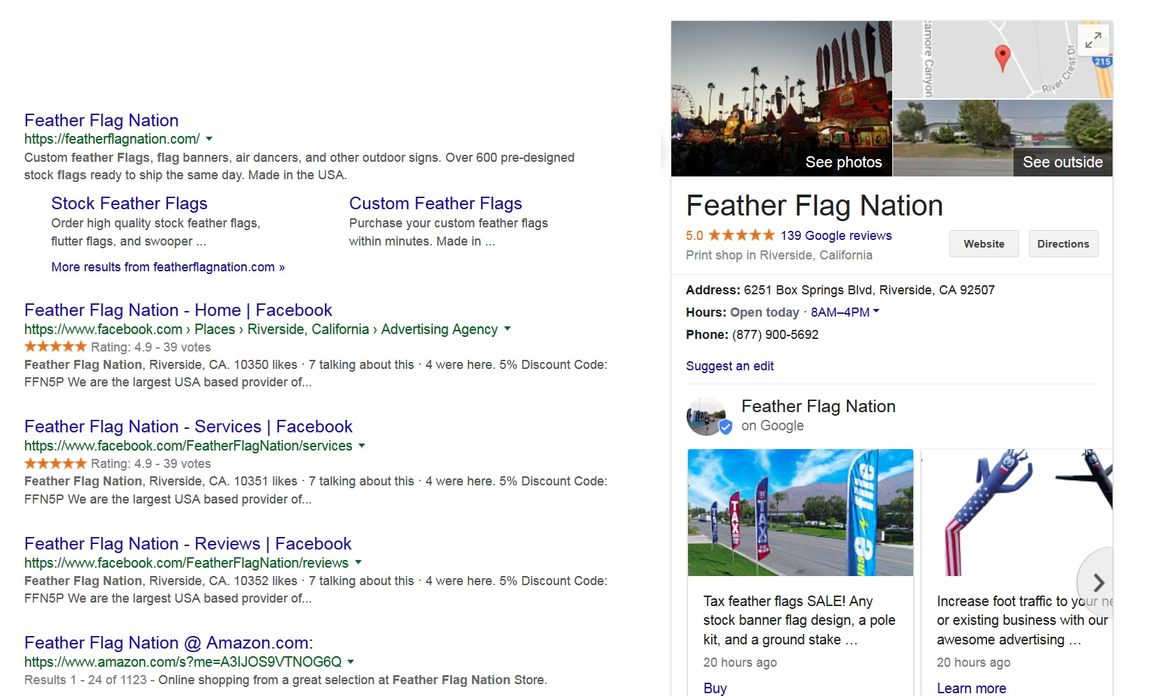 Feather Flag Nation Storefront