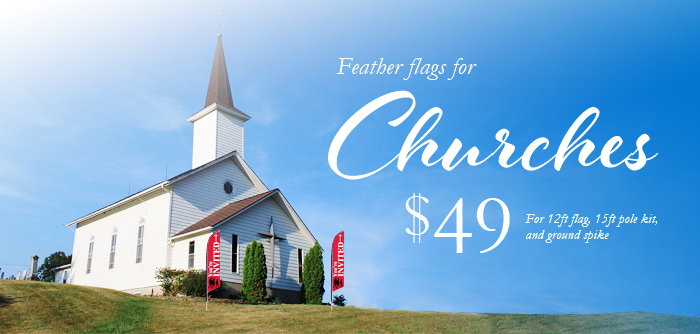 Custom Feather Flags For Churches