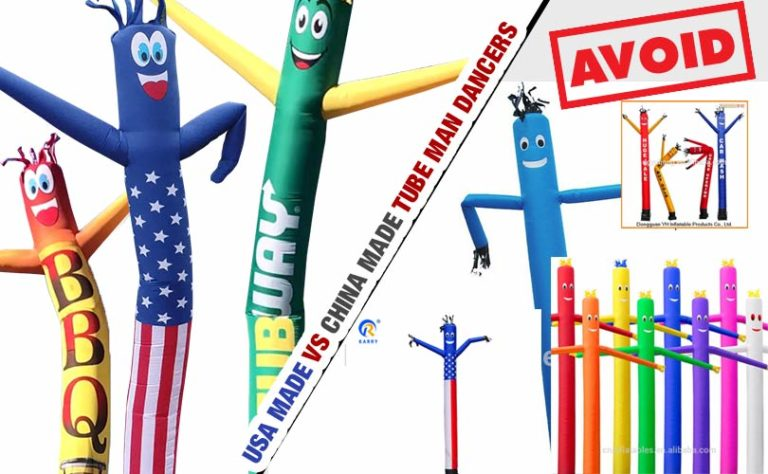 USA Made Inflatable Tube Dancer VS China Made Dancers