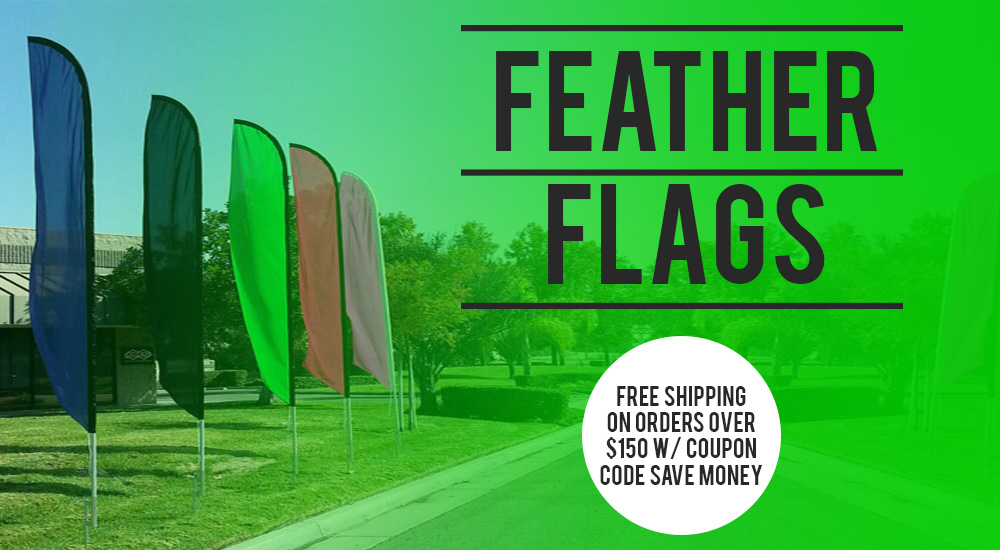 feather flags free shipping over $150