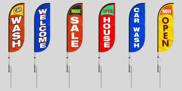 Custom 5ft Feather Flags