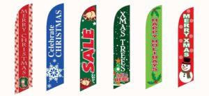 Christmas Feather Flag Sale