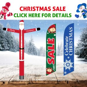 Feather Flags & Tube Man for Christmas & Holidays