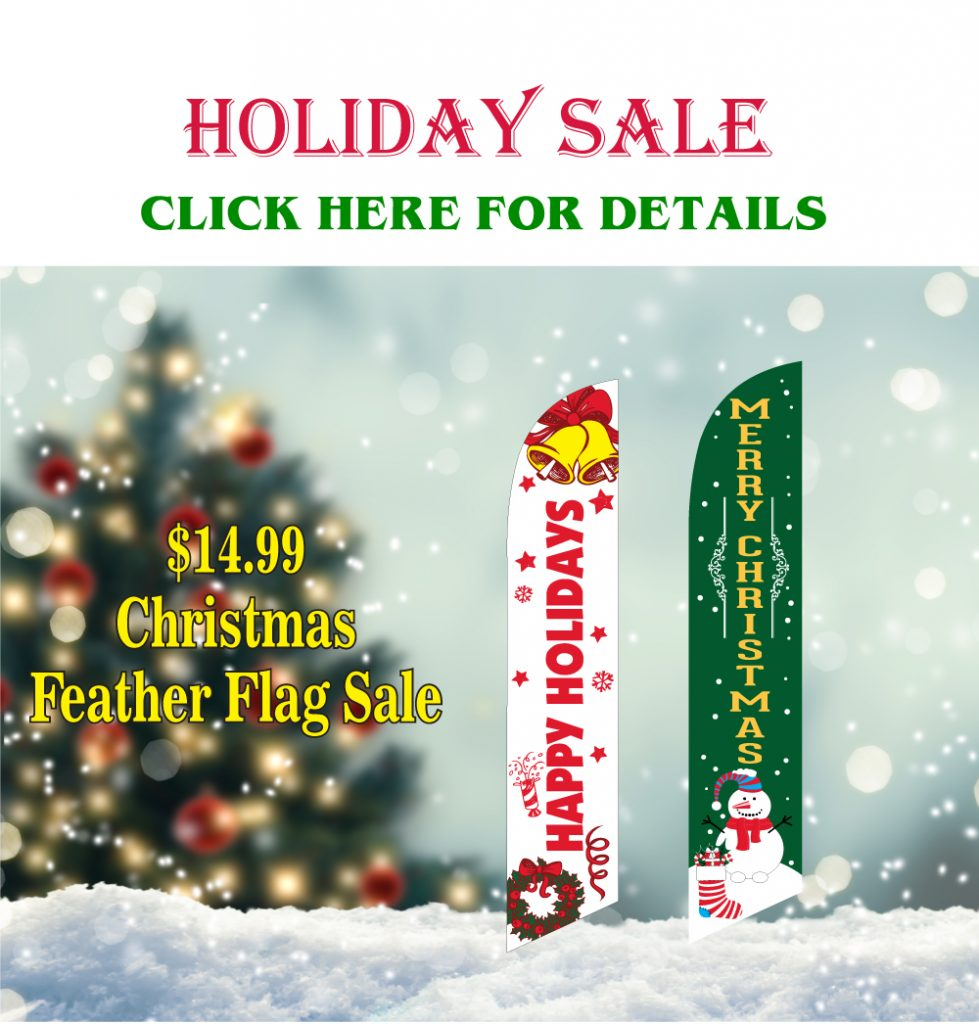 holiday sale christmas feather flags