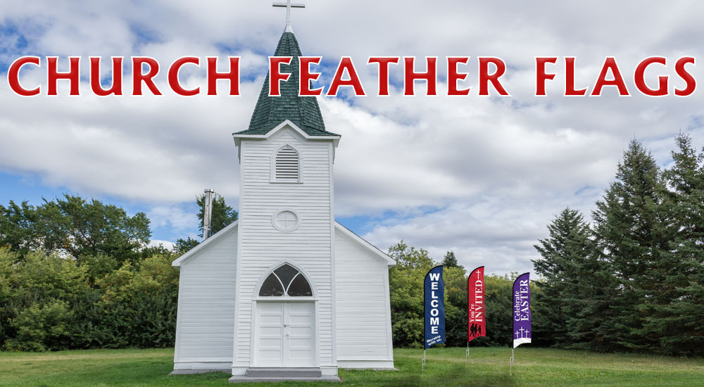Church Feather Flags