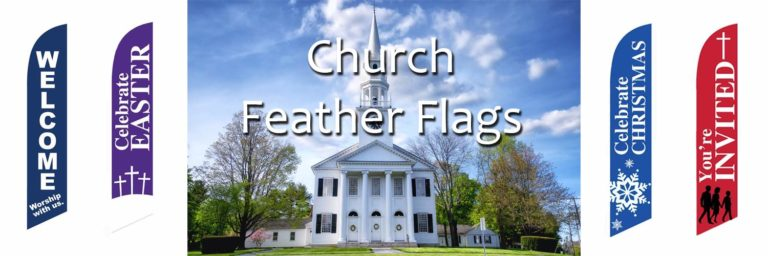 Church Feather Flags