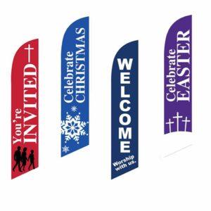 church feather flags for church worship flags god