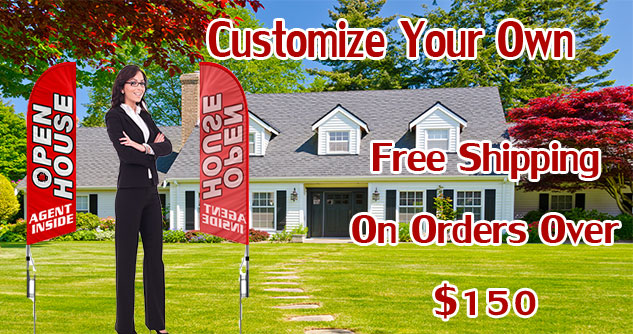 Open-House-Real-Estate-Feather-Banner-Flag-Kit