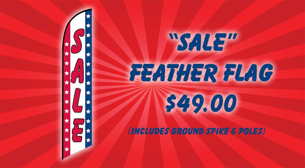 sale feather flag $49