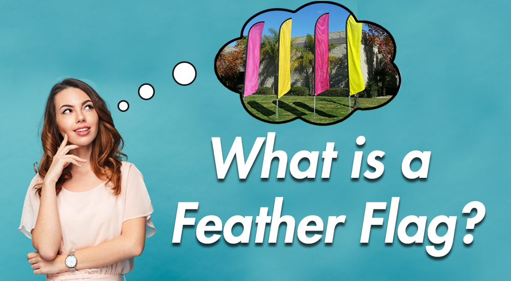 What is a feather flag
