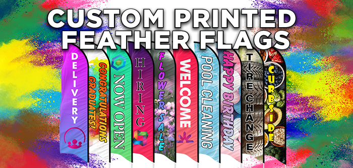 custom printed feather flags