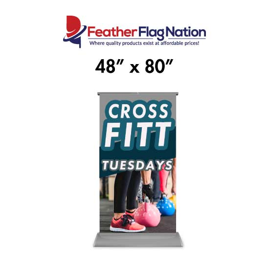 48x80 Retractable Banner for Gyms