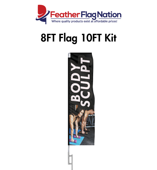 8ft Rectangle Flags for Gyms