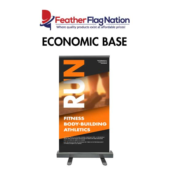 Economic Base Retractable Banner for Gyms
