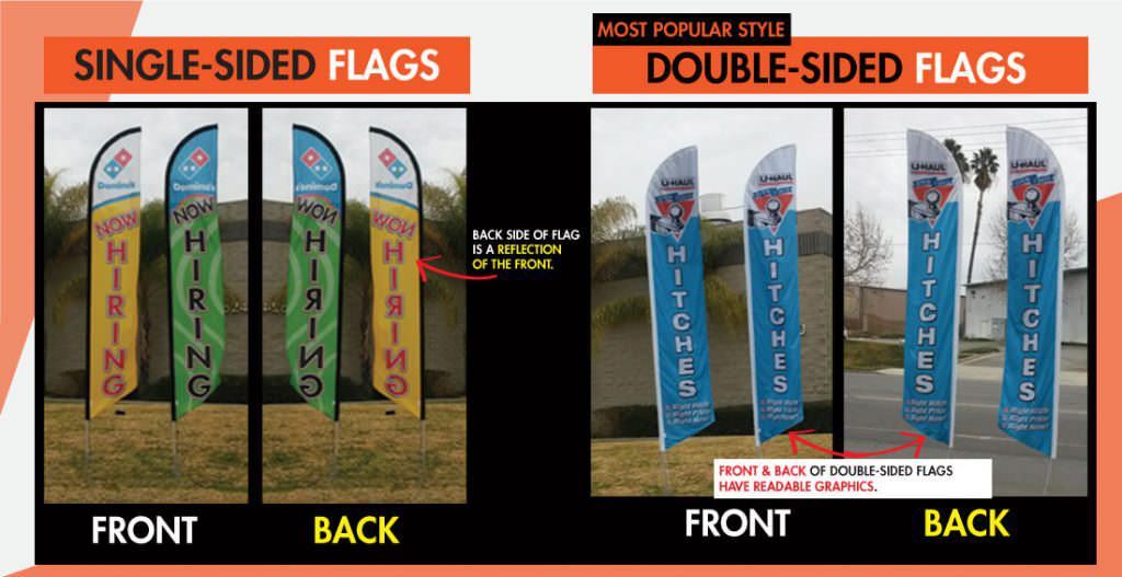 double sided vs single sided flags
