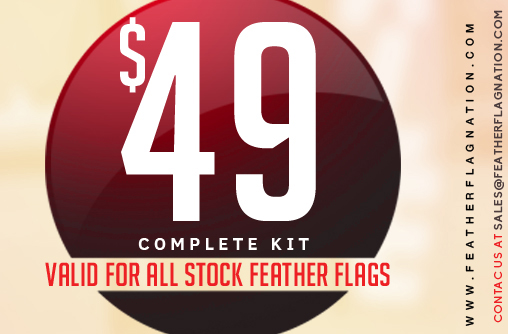 feather flag banners $49 special
